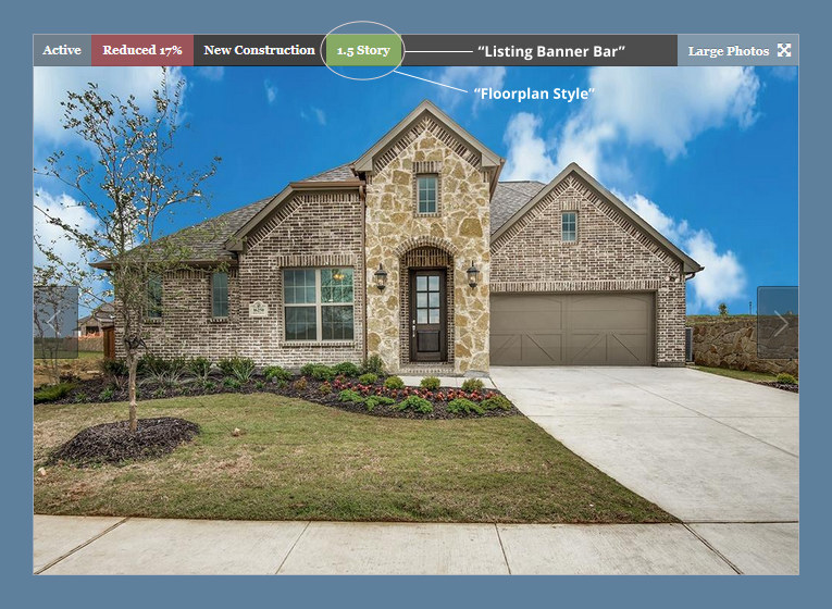1.5 Story Homes for Sale in McKinney, Prosper, Celina, Allen, Frisco, The Tribute, The Colony, Keller, Fort Worth and Arlington