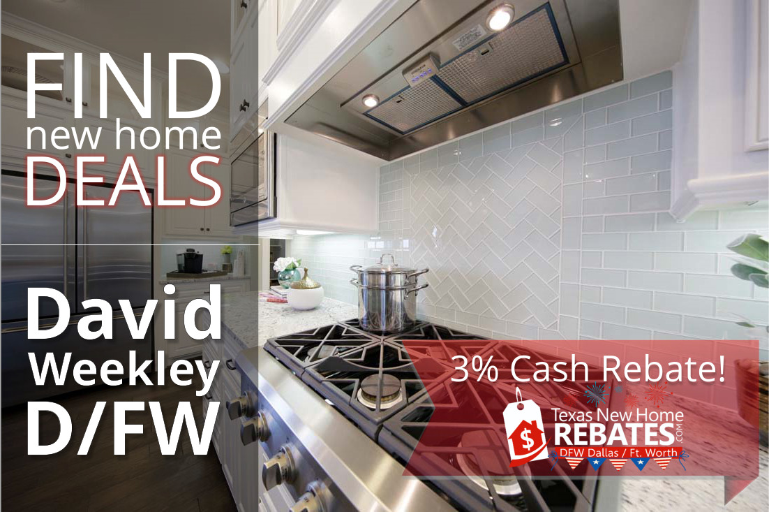 Find DEALS on Brand New David Weekley Homes in Dallas Fort Worth!