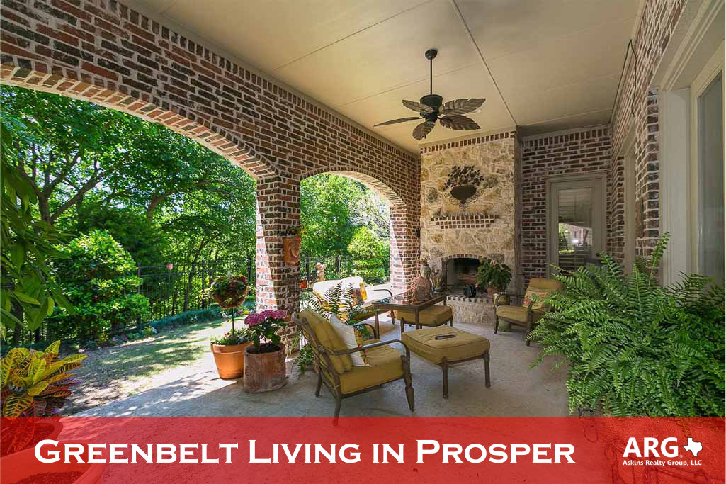 Find New Homes on Greenbelts in Prosper Texas