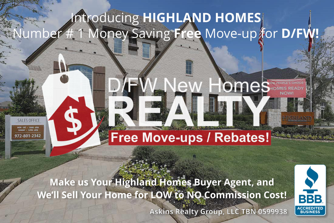 Have a preexisting home to sell? Most of our Highland Move-up clients pay NOTHING to sell their home with us!