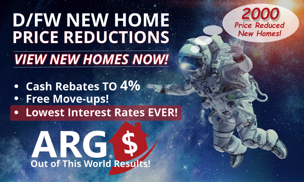 Your Exclusive Source For ALL DFW New Home Builder Price Reductions