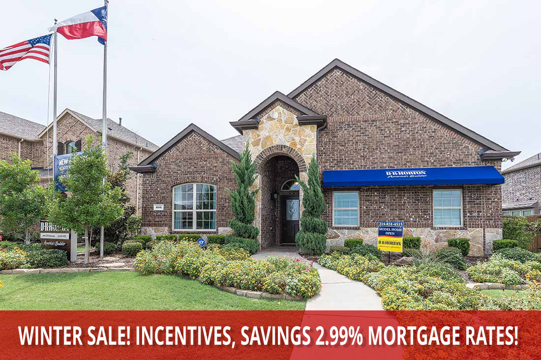 D R Hoton's East Division DFW Best Winter Sale is NOW! Huge Incentives, 2.99% Interest! Hurry!