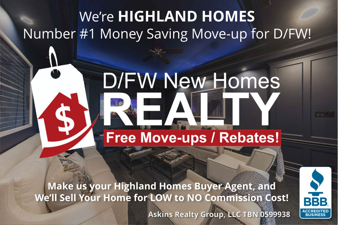 We're Highland Homes Number 1 Money Saving Move-up Choice! It's TiME to SAVE!