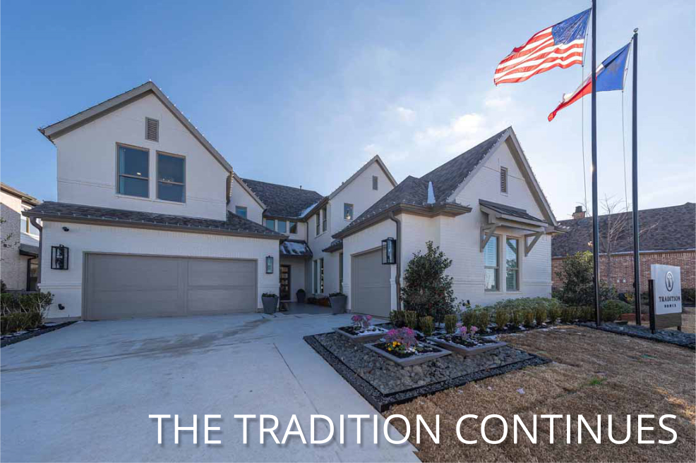 Tradition Homes Model Home at Light Farms Celina