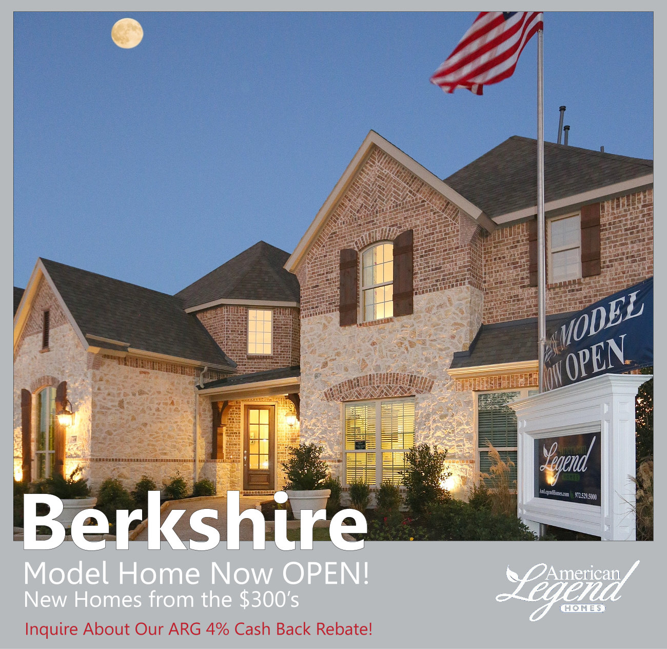 American Legend Homes Model Home in Berkshire Fort Worth is Now OPEN!