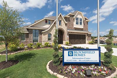 Bloomfield Homes Model in Timberbrook Justin Texas