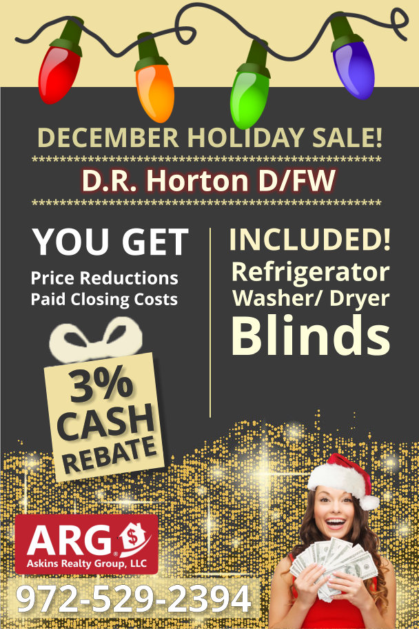 DR Horton Year-end SALE! Close in December and SAVE!