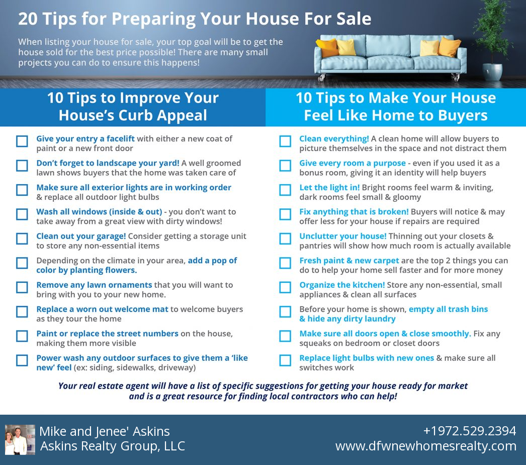 20 Home Seller Tips to Consider Before Listing Your Home for Sale