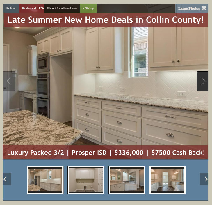 Find Collin County Texas New Home Deals with Us and SAVE!