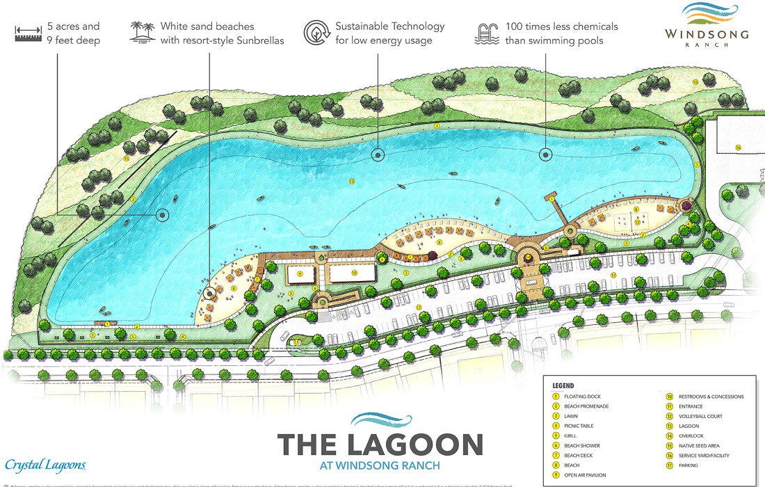 The Lagoon at Windsong Ranch Prosper! 5 Acres of Pure Resort Style Living!