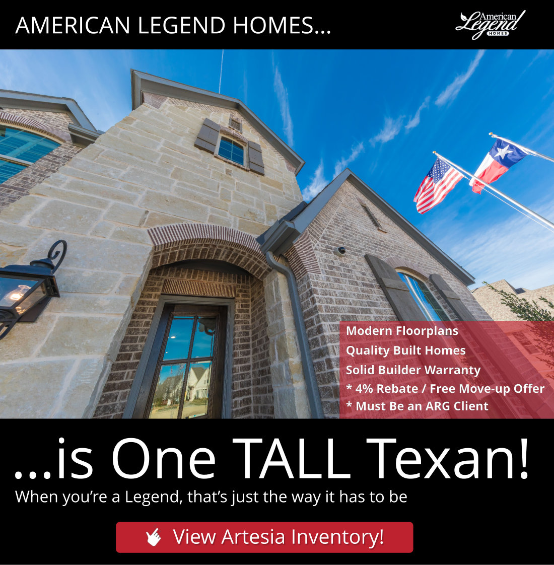 American Legend Homes of Dallas Fort Worth is Dealing for Year-end Closings! Step-up and SAVE!