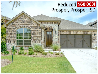 Hot New Home Buy in Prosper! 1 Story 4 Beds, 3 Full Baths and Loaded Special 4% Cash Rebate