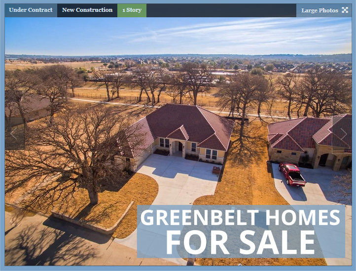 Prosper Texas Greenbelt Homes for Sale