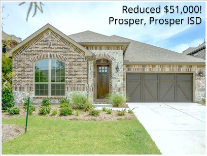 Hot Buy in Prosper! New Home Reduced $50K Ready NOW!