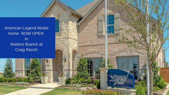 The American Legend Model Home At Watters Branch Is Now Open