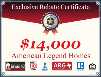 Get Your American Legend Homes Cash Rebate Certificate