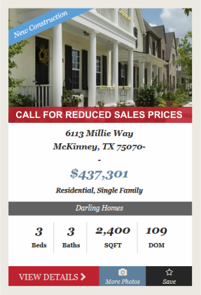 Darling Homes 2016 Year-end Sale Event in Spicewood at Craig Ranch McKinney