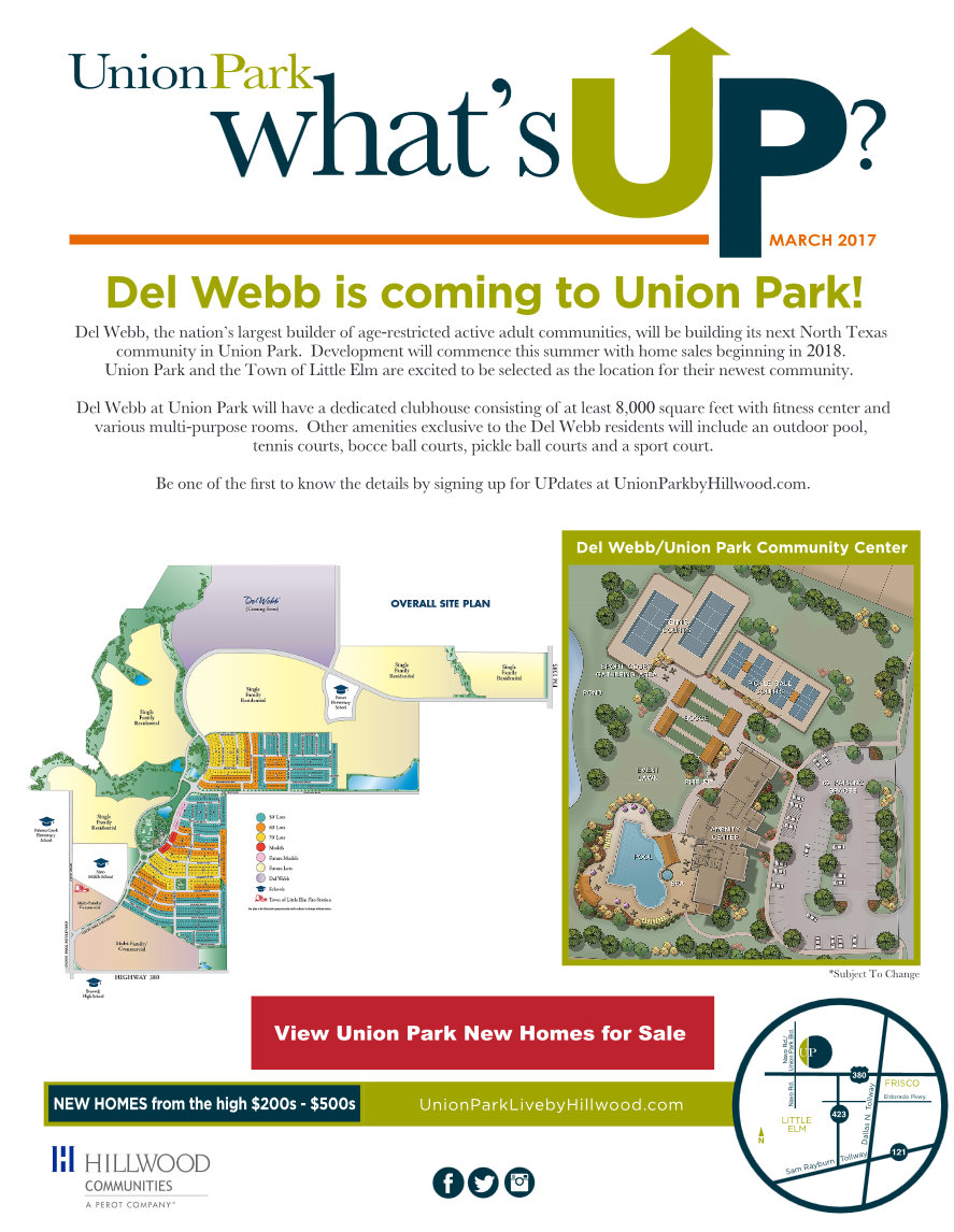 Moving to union park del webb says bring grandma and for Del website