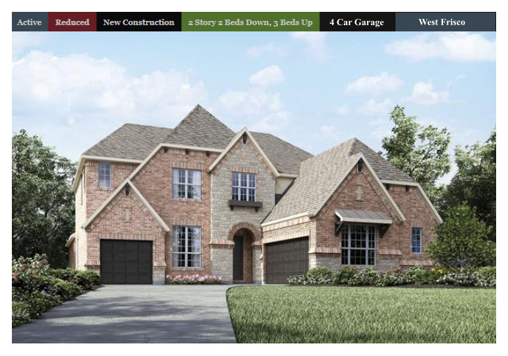 Fast close ready west frisco 4 car garage 5 bedrooms 5 for Spec home builders near me