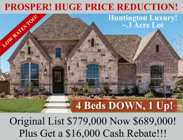 REDUCED Huntington Home in Whitley Place Prosper