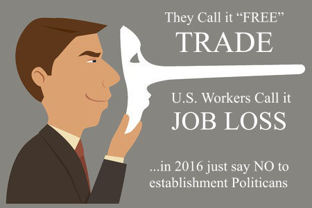 All Career Republican and Democrat Politicians support NAFTA and American Job Loss