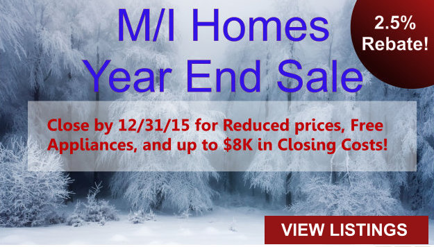 M/I Homes Yearend Clearance Sale DFW Dallas Fort Worth