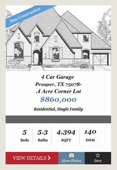 New Prosper Luxury Home for Sale! Now $75K below Base Price!