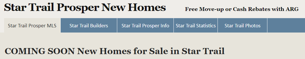 How to search for MLS listings in Star Trail, Prosper